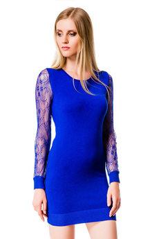 Платье с прозрачными рукавами Mondigo