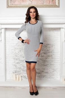 Платье с узором ромбы Angela Ricci
