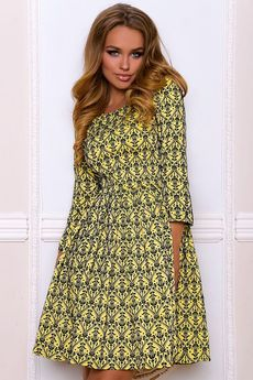Платье с расклешенной юбкой и рукавами 3/4 Open-Style