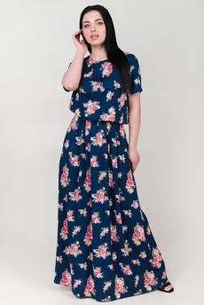 Платье в пол из штапеля Шарлиз